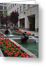 Fountain At Rockefeller Center Nyc Greeting Card