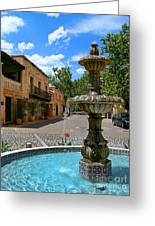 Fountain At Tlaquepaque Arts And Crafts Village Sedona Arizona Greeting Card