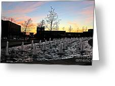 Fountain At Trinity River Campus 1566m Greeting Card