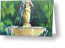 Fountain East Drive Woodruff Place Greeting Card