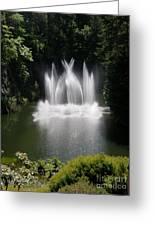 Fountain In Lake Greeting Card