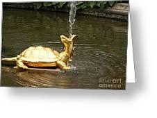 Fountain In Peterhof Greeting Card