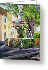 Fountain In Provence Greeting Card
