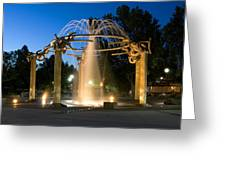 Fountain In Riverfront Park Greeting Card