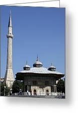 Fountain Of Ahmet IIi - Istanbul Greeting Card