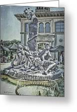 Fountain Of Bacchus Greeting Card by Jeff Swanson