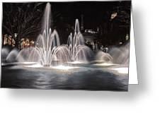 Fountains At Night Greeting Card