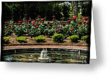 Fountain Of Roses Greeting Card