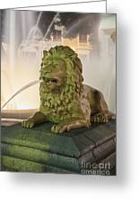 Fountain Of The Lions At Plaza Las Delicias In Puerto Rico Greeting Card