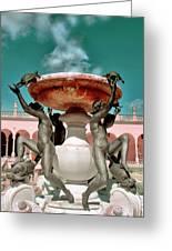 Fountain Of The Tortoises Ringling Museum Sarasota Greeting Card