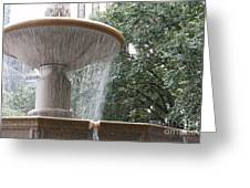 Fountain Of Yewts Greeting Card