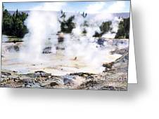 Fountain Paint Pot Yellowstone Np Greeting Card