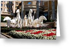 Fountain Statue  Greeting Card