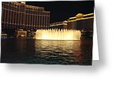 Fountain Vegas Greeting Card