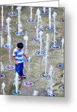 Fountains Of Youth Greeting Card by Jennie Breeze