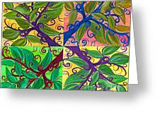 Four Branches By Jrr Greeting Card