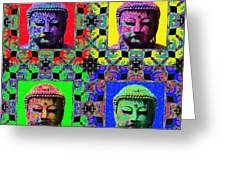 Four Buddhas 20130130 Greeting Card by Wingsdomain Art and Photography