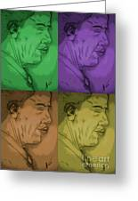 Four Colours Of Obama Greeting Card