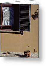 Four Corners Composition At Villa Aurora Florence Greeting Card
