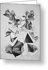 Four Faces In Puzzel Greeting Card by Glenn Calloway