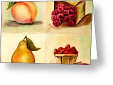 Four Fruits Greeting Card