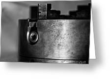 Four Jaw Chuck Black And White Greeting Card