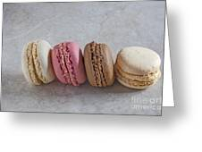 Four Macarons In A Row Greeting Card