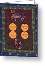 Four Of Pentacles Greeting Card