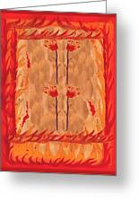 Four Of Wands Greeting Card