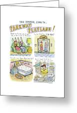 Four Panels Advertise Parkway Playland Greeting Card