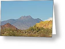 Four Peaks From The Apache Trail Greeting Card