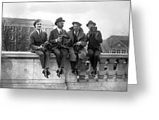 Four Photographers Greeting Card