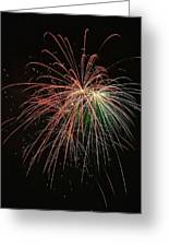 Four Pop Fireworks Greeting Card