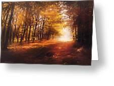 Four Seasons Autumn Impressions At Dawn Greeting Card