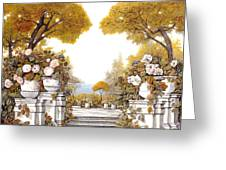 four seasons-autumn on lake Maggiore Greeting Card