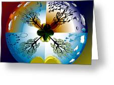 Four Seasons Roundel Greeting Card