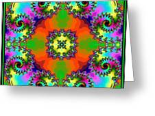 Four Square Spirals Greeting Card