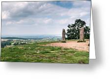 Four Standing Stones On The Clent Hills Greeting Card