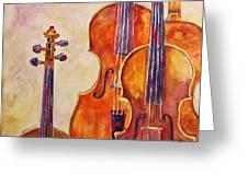 Four Violins Greeting Card