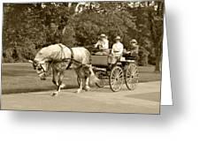 Four Wheel Cart Family Greeting Card by Wayne Sheeler