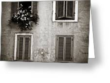 Four Windows Greeting Card