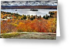 Fourth Lake From Above Greeting Card
