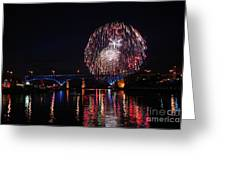 Fourth Of July In Cleveland Greeting Card
