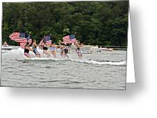 Fourth Of July On The Lake Greeting Card