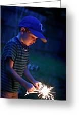 Fourth With A Sparkler Greeting Card