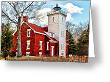 Fourty Mile Point Lighthouse Greeting Card