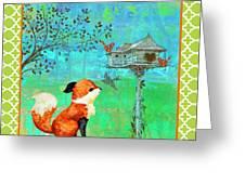 Fox-a Greeting Card