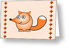 Fox - Animals - Art For Kids Greeting Card