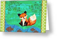 Fox-c Greeting Card