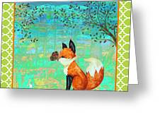 Fox-d Greeting Card